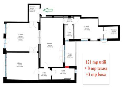 Spatiu de birouri de inchiriat (121 mp)- zona ultracentrala